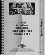 Ford 2000 2100 2110 2150 3000 3150 4000 4140 5000 7000 ++ Tractor Service Manual