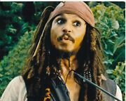Johnny Depp Signed Autographed Pirates Of The Caribbean Jack Sparrow Photo