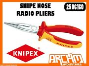 Knipex 2506160 Snipe Nose Radio Pliers - 160mm Gripping Cutting Edges Chrome