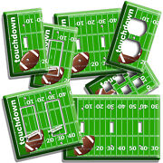 Football Field Aerial Touchdown Light Switch Outlet Wall Plate Man Cave Hd Decor