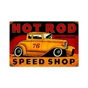 Past Time Signs Pts236 Hot Rod Speed Shop Automotive Vintage Metal Sign