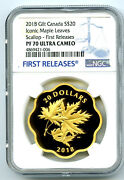 2018 20 Canada Gold Gilt Silver Ngc Pf70 Masters Club Iconic Maple Leaves Fr