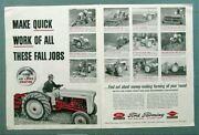 Original 1954 Ford Tractor Ad Ford Makes Quick Work Of These Fall Jobs 2 Page