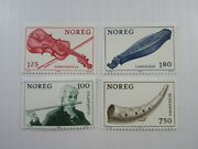 1978 Norway Sc 734-37 Musical Instruments Mh Stamp