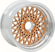 16 X 8 Gold Gta Style Alloy Wheel W/ 4-3/4 Backspacing And 0mm Offset