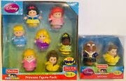 Lot Of 9 Disney Princess Little People Chunky Fisher-price New Ariel Belle Beast