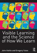 Visible Learning And The Science Of How We Learn By John Hattie English Paperb