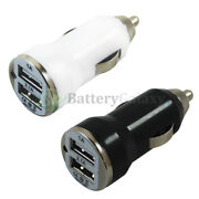 1-100 Lot Fast Dual 2 Port Car Charger For Apple Iphone / Android Cell Phone