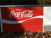 Vintage True Manufacturing Double Sided Coca-cola Cooler With Bottle Opener