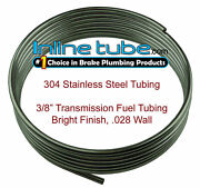 304 Stainless Steel Brake Fuel Transmission Line Tubing 3/8 Od Coil Roll Flare