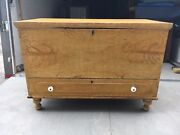 """Mid 19th Century Grain Painted Yellow Pa Blanket Chest W Draw 39"""" L X 27"""" H X 20"""