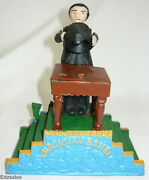 Magician Top Hat Disappearing Coin Trick Mechanical Cast Iron Bank