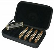 Hohner Marine Band Harmonica Set, Includes Key Of G, A, C, D