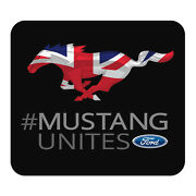 Ford Mustang Unites Uk Flag Graphic Pc Mouse Pad - Custom Designed For Gaming