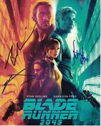 Harrison Ford Ryan Gosling And Jared Leto Signed Autograph Blade Runner 2049 Photo