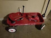 Vintage Radio Flyer Classic Red Steel Outdoor Pull Wagon 18 Classic Full Size