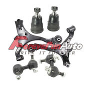 For 2001-2005 Honda Civic Front Lower Control Arms Ball Joints Tie Rod 6pc