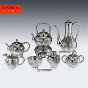 Antique 20thc Japanese Solid Silver Tea And Coffee Set, Miyamoto, Tokyo C.1900