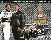 1995 Dale Earnhardt Sr Gm Goodwrench Service Signed Auto 8x10 Postcard Psa/dna