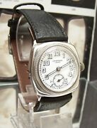 1936 Jw Benson Antique Vintage Explorer Hermetic Solid Silver Watch And Box