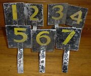 Vintage Worn Aluminum Number Signs 1-7 - Not Sure What They Are For...
