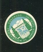 Poster Stamp Label Colorado Federation Of Garden Clubs