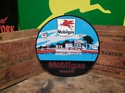 Mobilgas Marina Sign Automobile Engine Drive Vehicle Gas Oil Boat