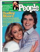 Dudley Moore Signed Auto Vintage 1981 People Magazine Cover W/ Sexy Susan Anton