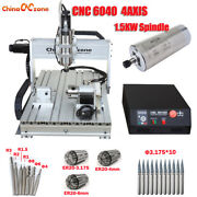 1500w Cnc 6040 Router 4 Axis Mach3 Usb Engraver Engraving Machine And Ball Screw