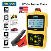 Autool Bt360 Battery System Tester Auto Lead Acid Charging Tester For 12v Car Us