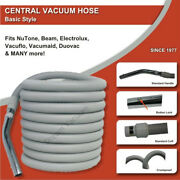 Air Vac Vacumaid Beam Electrolux Central Vacuum Hose 25and039 Grey Button Lock Nutone