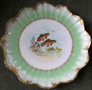D And C France R. Delinieres And Cie Signed Painted Signed Charles - Fish Plate