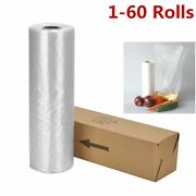 12x20 350 Bags / Roll Clear Plastic Produce Clear Bag Kitchen Fruit Vegetable