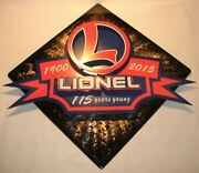 Lionel 9-42034 Store Display 115th Anniversary 3d Wall Art Limited To Only 115