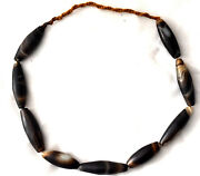 Large Antique Agate Beads Necklace 25 Long
