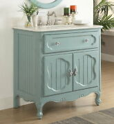Benton Collection Knoxville Blue Shabby Chic Home Bathroom Vanity Gd-1533bu 34