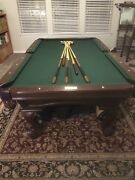 Conoly 8ft. Billiard Pool Table With Table And Chairs
