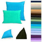 Pillow Cover Soft Fine 100 Cotton Bed Cushion Case Throw Rectangle Custom Size