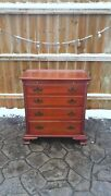 Chippendale Style Bachelor's Chest Built In 1959 With Pull Out Writing Surface