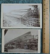 Pair Orig July 1893 Mounted Cabinet Photos Broad St Railroad Sta Construction Pa