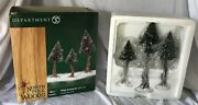 Dept 56 North Pole Woods - Set Of 3 Small Pinewood Trees 56925 - Excellent
