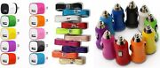 10x Color Wall Charging Adapter 5ft Usb Data Cable Car Charger For Phones Tablet