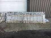 C1920 Antique Wooden Picket Fence Sections Old White 67andrsquo+ X 24andrdquo High W Gate