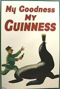 John Gilroy Lithograph Retro Beer Poster My Goodness My Guiness 2000