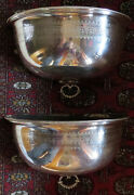 Antq. Pair Of English Silver Plate Meat Domes Wall Pocket Planter Copper Inserts