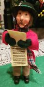 Byers Choice Caroling Man Kindle W/music Scroll Perfect For A Gift Topper