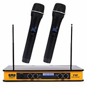Vhf Dual Wireless Microphone W/ Echo Feature - Perfect For Live Performances