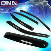 For 00-03 Maxima A33 4pc Smoke Tint Window+sun/moon Roof Visor Shade/deflector
