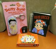 Betty Boop Collection Back Pack Clip On Playing Cards Road Queen Note Pad