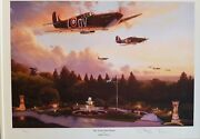 Ltd Edition Aviation Print The Storm Has Passed By Stephen Brown 1/25 Spitfires